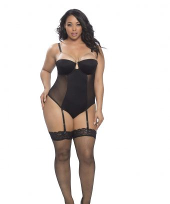 Plus Size Teddy w chain bustline