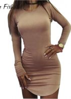 Bodycon mini dress long sleeves at Karis-Closet.com
