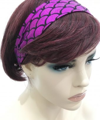 Women's Hairband With Metallic Sheen Fabric