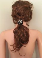 Jewel Enhanced Velour Ponytail Ties