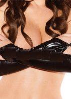 Shiny Fingerless Gloves