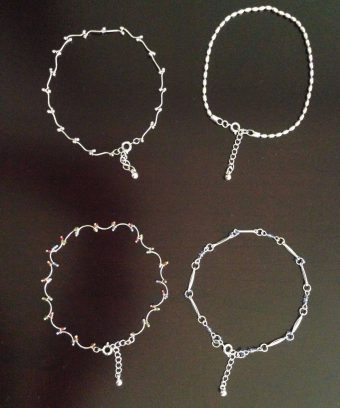 Delicate Silver Tone Ankle Bracelet-Four Designs Available