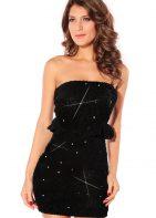 Black Peplum Mini Party Dress at www.Karis-Closet.com