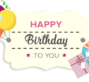 Happy Birthday Gift Card on Karis-Closet.com