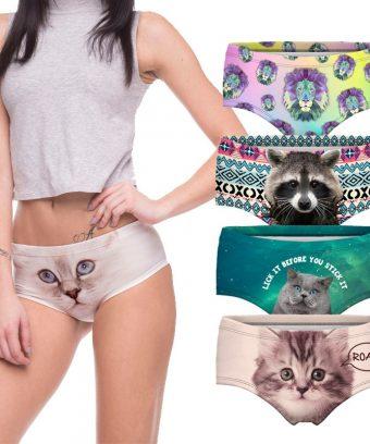 Sexy Panties 3d Print Cotton Underwear