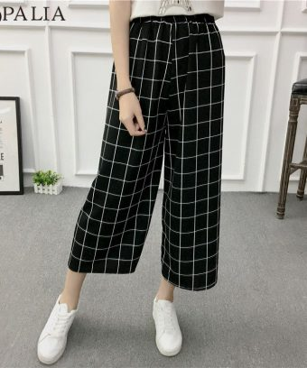 Wide Leg Pants Casual Loose High Elastic Waist Harem Pants