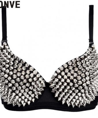Women's Rhinestone Cover Bra Top