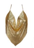 Elegant Metal Crop Top Sexy Backless Bralette Camisole Halter