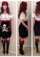 Pirate Lady Halloween Costume-Adult Size