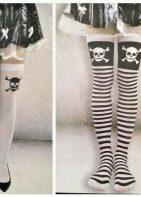 Halloween Skull & Bones Costume Stockings